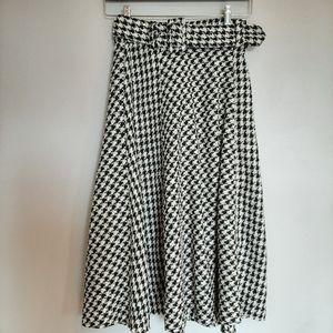 H&M Houndstooth Skirt.